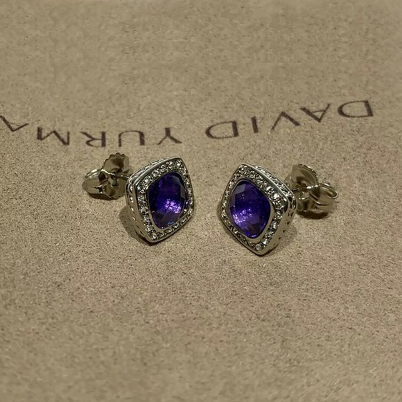 David Yurman Petite Albion Earrings Amethyst